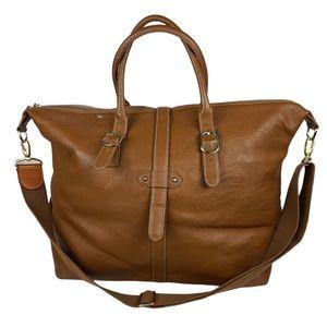 Bric's Leather Brown Duffel Bag